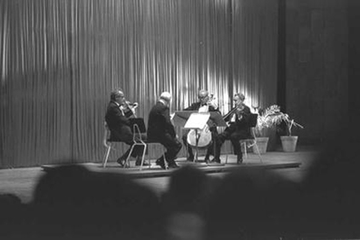 The Budapest String Quartet in 1961
