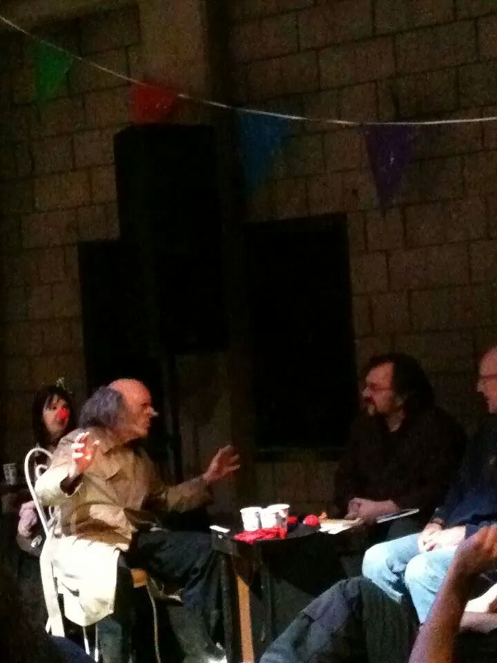 Kurt Gottschalk interviewing The  Residents, photo by Ariella Stok