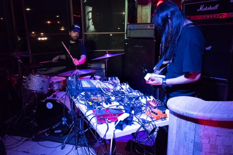 Merzbow and Balazs noise performance