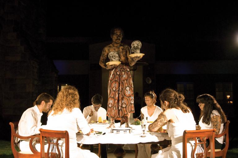 Entang Wiharso, Eating Identity, 2008, photo by Charles Quigg