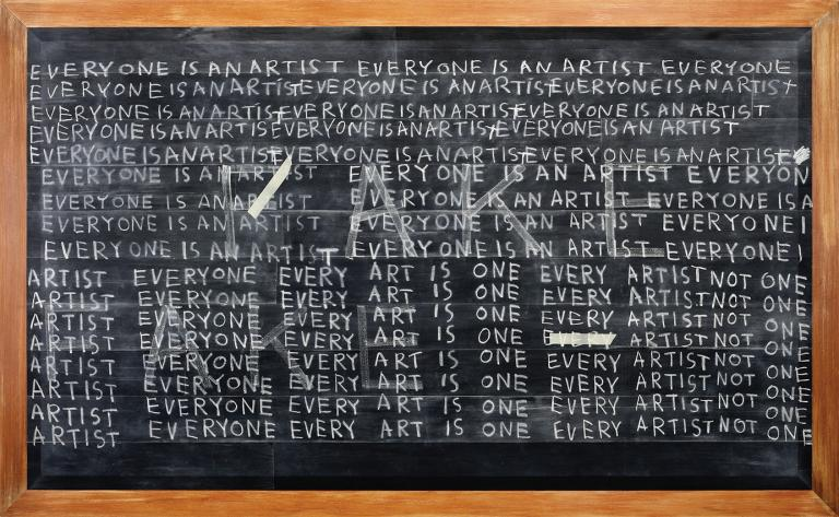 Jumaldi Alfi, Blackboard Series 'fake', 2010